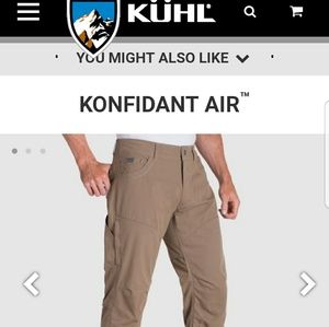 Mens kuhl konfidant air pants size 36x30